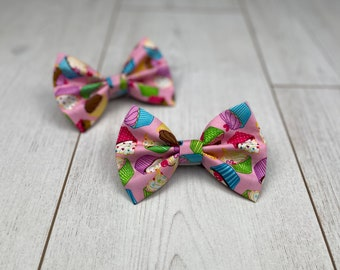 Pink Pup Cakes Birthday Dog Bow Tie