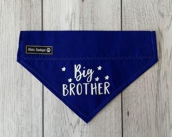 Big Brother Dog Bandana / Over the Collar Bandana / Royal Blue Bandana