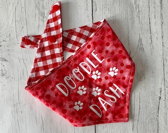 Doodle Dash Dog Bandana with a popper fastening