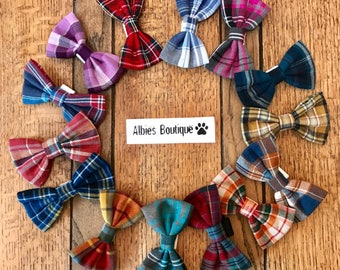 Dog Bow Ties in Albies Signature Tartans