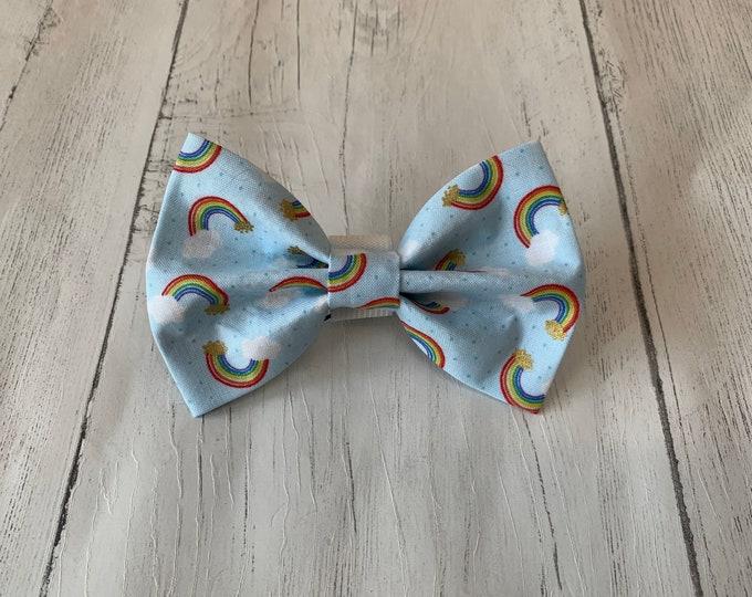 Featured listing image: Rainbow Smiles Handmade Dog Bow Tie