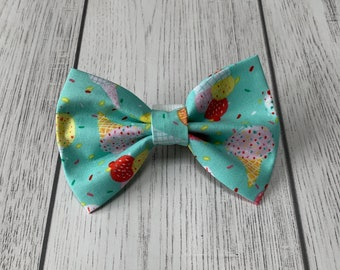 Mint Green Summer Treats Handmade Dog Bow Tie