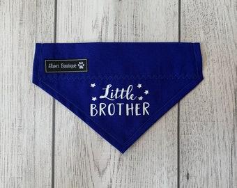 Little Brother Dog Bandana / Over the Collar Bandana / Royal Blue Bandana