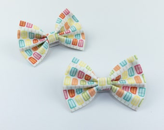 Ice lolly summer dog bow tie