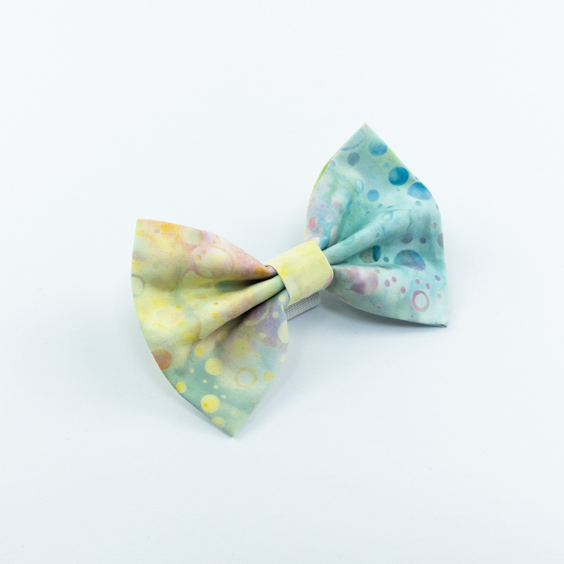 Summer Vibes Batik dog bow tie image 0