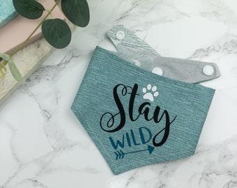 Stay Wild Reversible Dog Bandana
