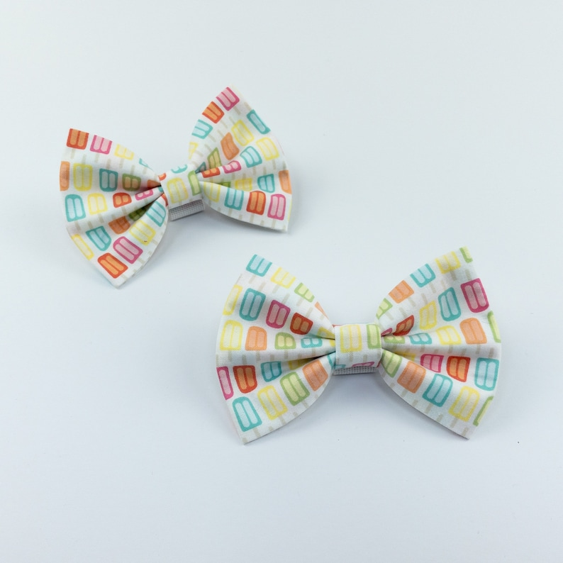 Ice lolly summer dog bow tie image 0