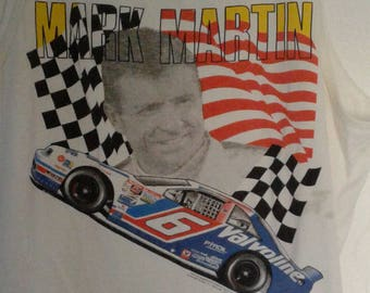 Mark Martin NASCAR bright screen print TANK Size M Excellent