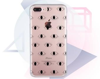 Eyes iPhone 7 Case Clear iPhone 6 case Transparent iPhone 8 Case Silicon iPhone SE Case Eye Clear X Phone Cute iPhone 7 Plus Case MC1059