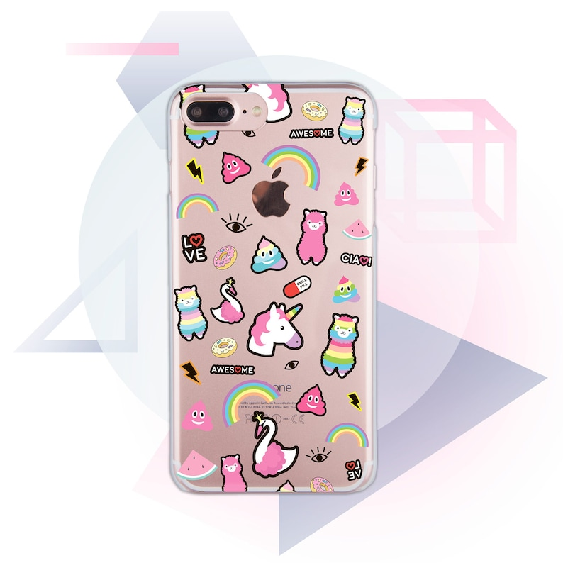 watch 4a187 90885 Stickers iPhone XS Max Case Pink Phone XR Case Funny iPhone X Case Unicorn  iPhone 7 Cute Clear iPhone 8 Plus Case Pink iPhone SE Case MC1027