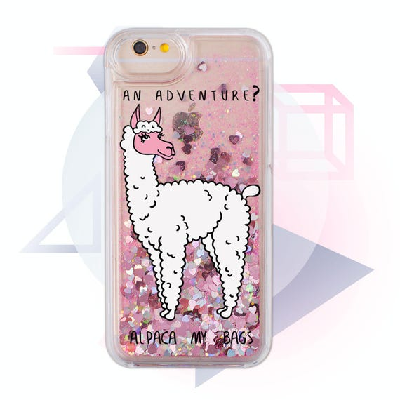 finest selection b01d0 5ed34 Glitter Pink Llama Case iPhone 7 Case Case iPhone 7 Plus Clear iPhone 6  Case iPhone 8 Case Glitter Silver Llama Phone Case MC1303
