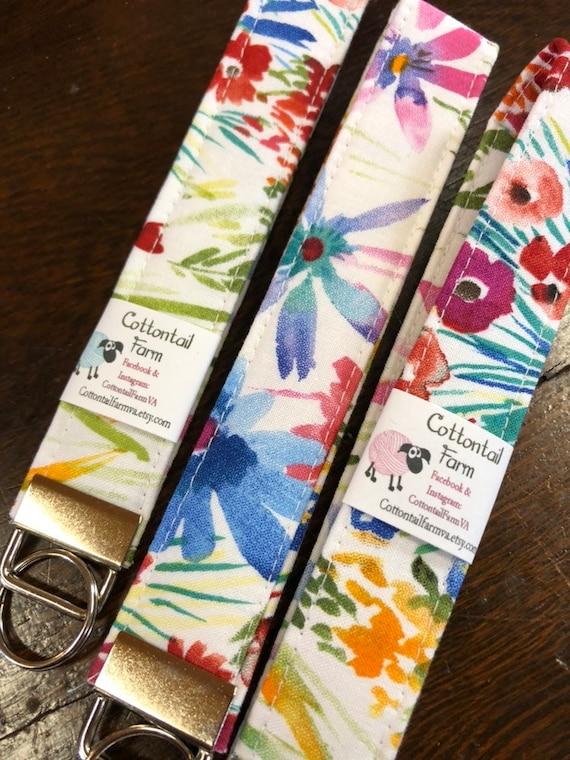 Ladybug Key fob Key Fob teacher gifts Fabric Key Ring Key Wristlet