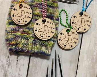 Needle Gauge, Sock Knitting needle gauge, Needle Gauge, knitting tool, Small needle gauge, sock knitting gift