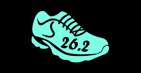 5 K Shoe Fun Marathon Run Running Jogging Vinyl Die Cut Decal Window Car