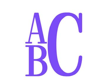 Stacked Monogram Alphabet font SVG DXF Cut Files Instant Download