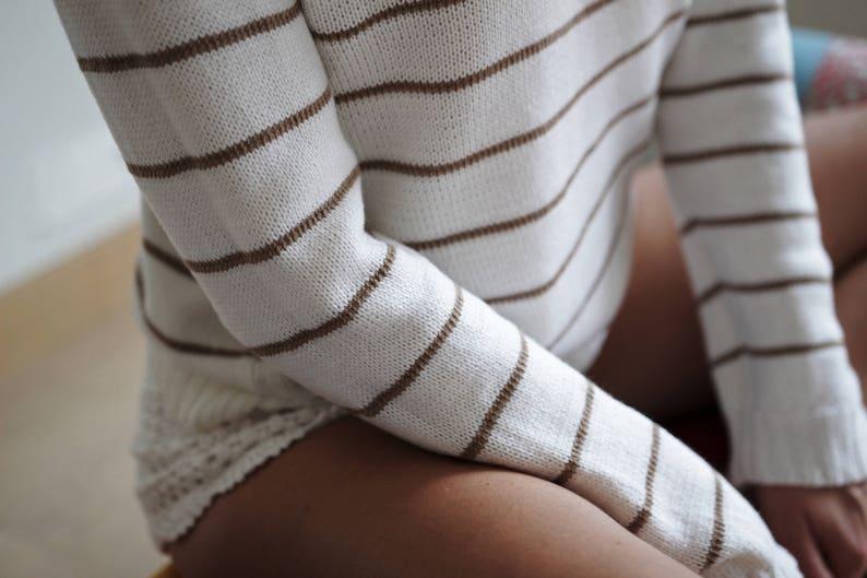 Striped sweaterPulloverSweaters for womenKnit sweaterMerino woolLong sleeve tshirtGift for herGift for women