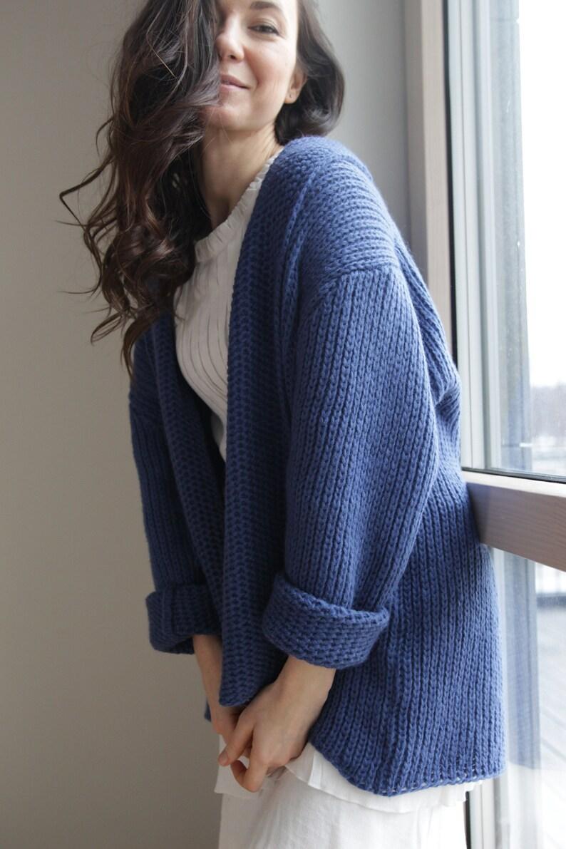 4c55b8b44ca Oversized cardigan knitted cardigan merino wool cardigan women