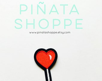 Heart Lollipop Iron-On Patch | Piñata Shoppe