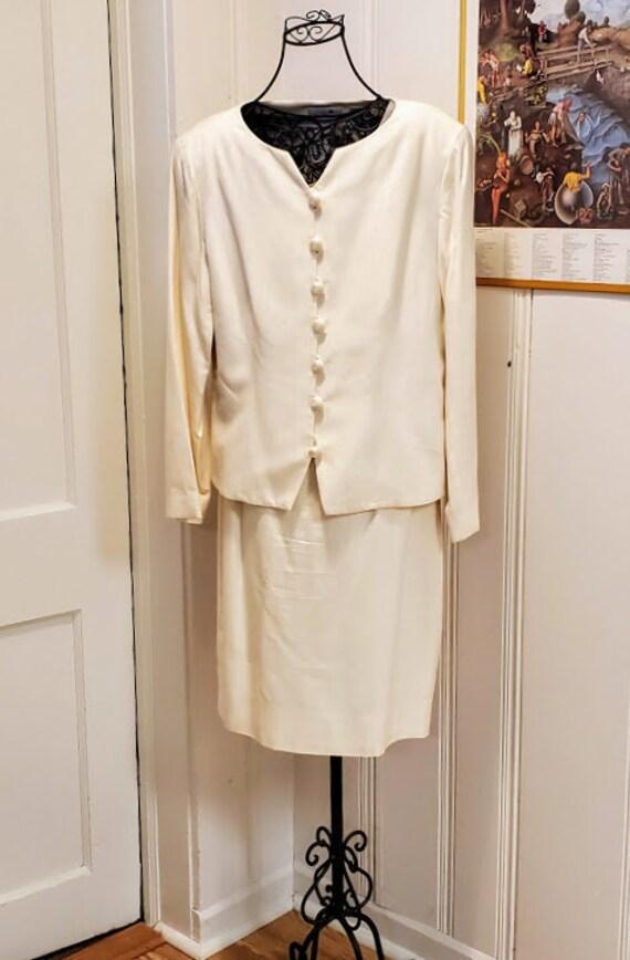 LIZ CLAIBORNE Elegant Moire 2 Piece Dress. Party W