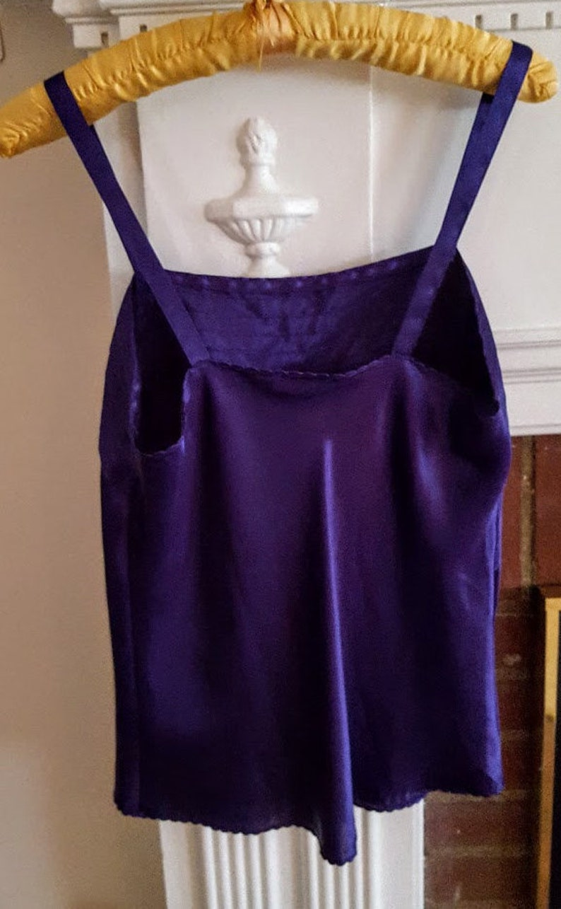 Vintage 1990s Escapades Purple Camisole Tank Sleeveless Blouse Cami Top Women/'s Size  Medium  Large Dressy Casual Career