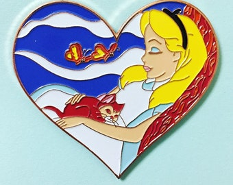 Alice in Wonderland Dinah Hard Enamel Disney Fantasy Pin LE40 B GRADE