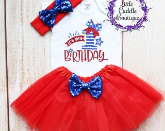 9e3f1bf81 Fourth Of July First Birthday Outfit, Patriotic Birthday Outfit,  Firecracker Outfit, Firework Outfit, Firework Birthday, Summer Birthday