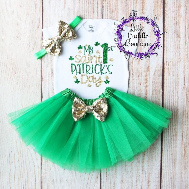 90284cb8aca0 My 1st Saint Patrick s Day Tutu Outfit St. Patrick s
