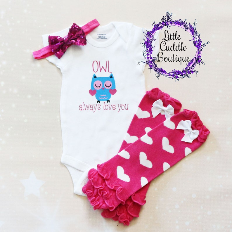 baa2a0e71 Owl Always Love You Baby Leggings Outfit Owl Girl Outfit | Etsy