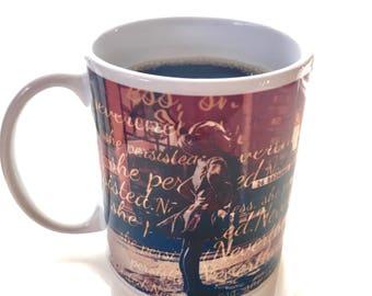 Fearless Girl Coffee Tea Mug - She Persisted - Girl Power