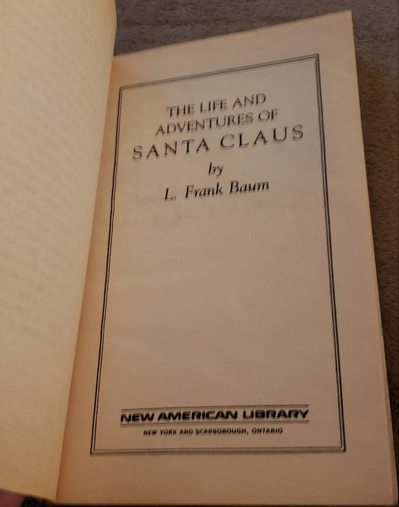 The Life And Adventures Of Santa Claus Book By L Frank Baum Etsy