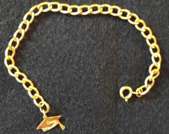 Gold Graduation Bracelet