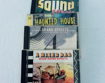 Set of 4 sound effect cd's