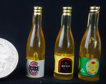 Beer Bottle: Handley House, garden supplies, fairy garden, dollhouse, miniature,