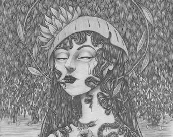 Ophelia (Get Thee to a Nunnery) - Mini Print