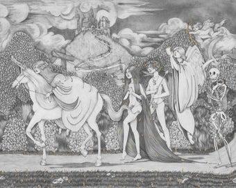 The Unicorn Hunt - Mini Print