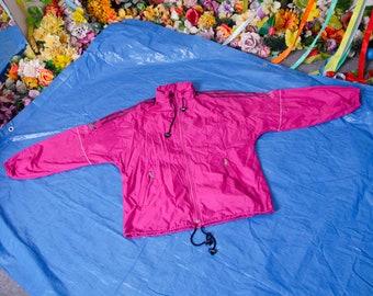 90s adidas purple jacket, vintage retro windbreaker, raincoat, track jacket, size M
