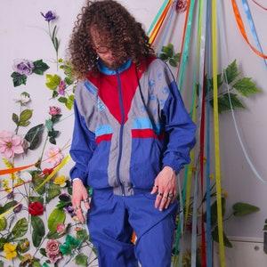 two piece set size XL vintage tracksuit set track pants jacket retro 90s tracksuit men women 80s 90s tracksuit