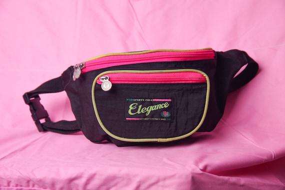 80s fanny pack, neon retro vintage bum bag, 90s vi