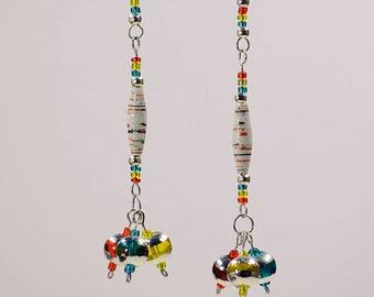 Funky Rainbow Fiesta Dangle Earrings #541