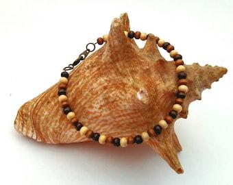 Men's Wood Bead Bracelet