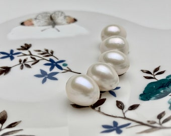 100 pcs Half Drilled One Hole Round Pearls 12mm Light Cream Ivory Off White FREE Combine Shipping USA LP034
