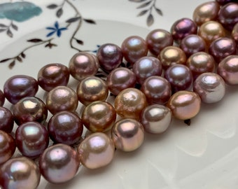 10-11 mm AAA Very Rare Dark Mauve Pink Baroque Edison Pearl Genuine Natural Top Quality Edison Pearl With Iridescent Color #1918