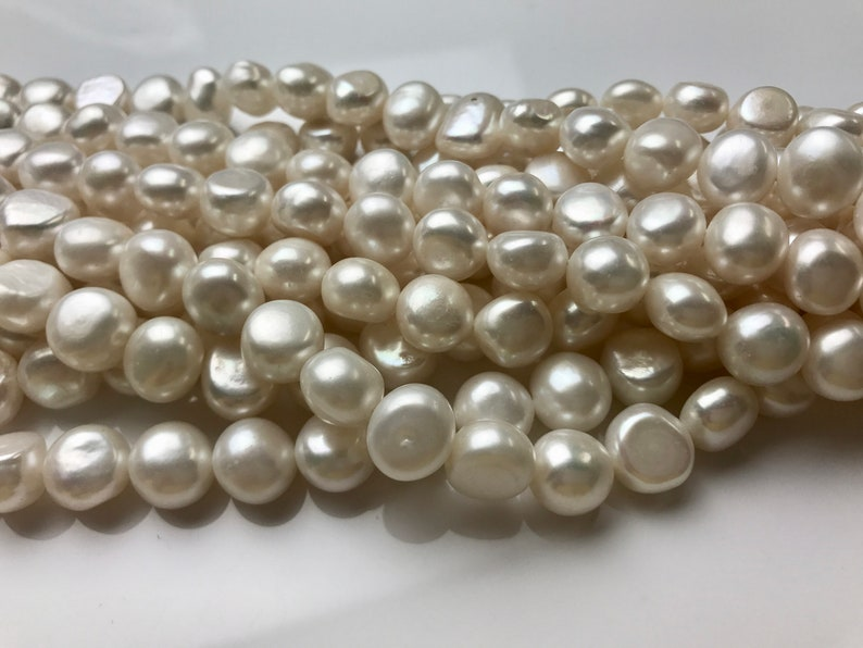 11-12 mm AAA Natural White NuggetFreshwater Pearl Beads Natural White Color Genuine Nugget Freshwater Pearl #1247