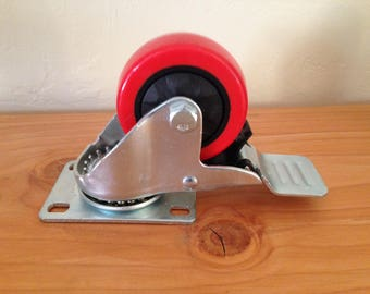 Add 4 Heavy Duty locking caster wheels to your custom wood table