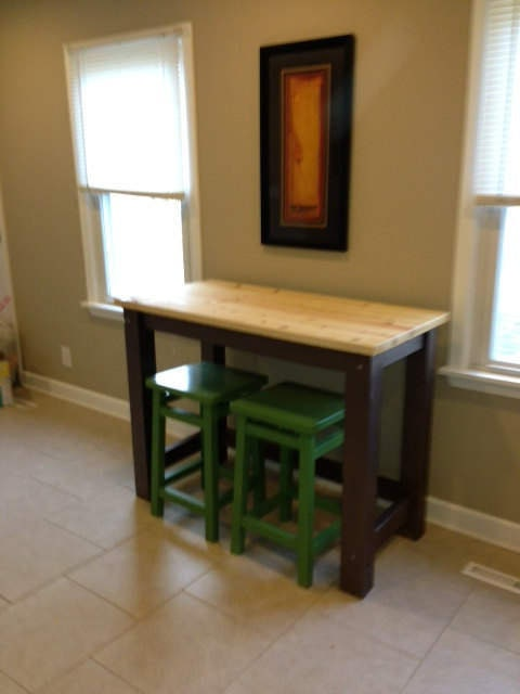 No shelves multi sizeuse kitchen island desk barpub table no shelves multi sizeuse kitchen island desk barpub table butcher block style with seating for 23 or 4 watchthetrailerfo