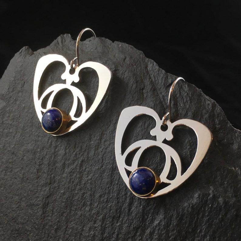 Drop Earrings Verdant Heart /& Lapis