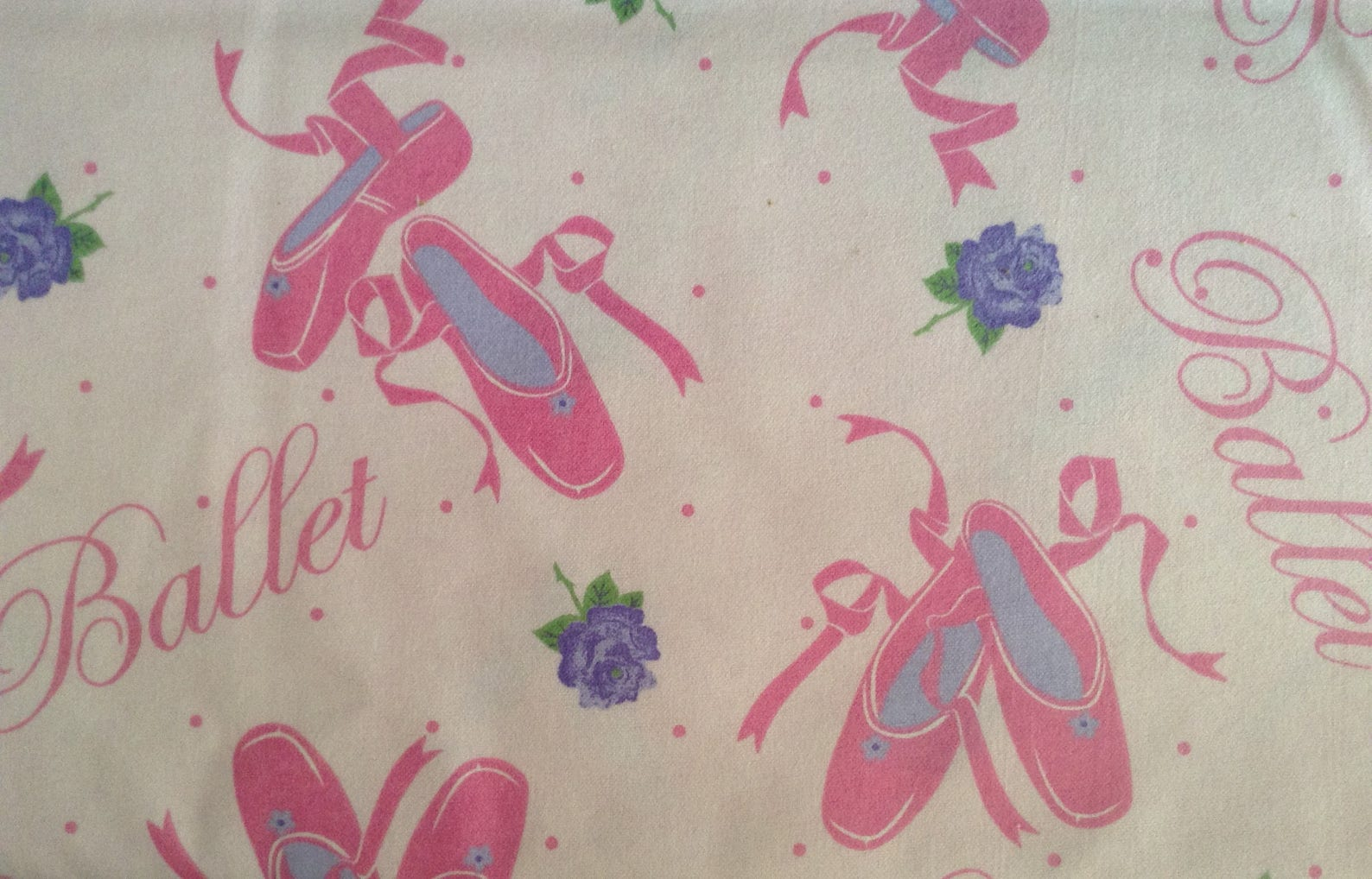 flannel ballet slipperes cotton fabric