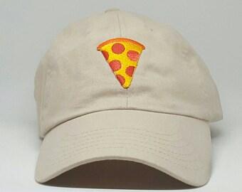 Pizza Emoji Embroidered Baseball Dad Hat Strapback Humor Dat Hats Women's Hats Men's Hats