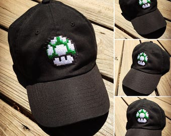 d03ffe3a86b More colours. Mario Brothers 1UP Mushroom Power UpEmbroidered Baseball Dad  Hat Strapback Humor Dat Hats ...