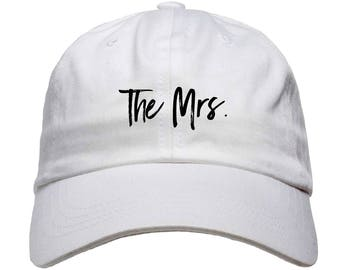The Mrs. Baseball Dad Hat Strapback Wife Bride Bride to Be Newlyweds Wedding Gifts